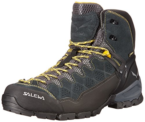Salewa Herren MS Alp Trainer Mid Gore-TEX Trekking- & Wanderstiefel, Carbon/Ringlo, 44.5 EU