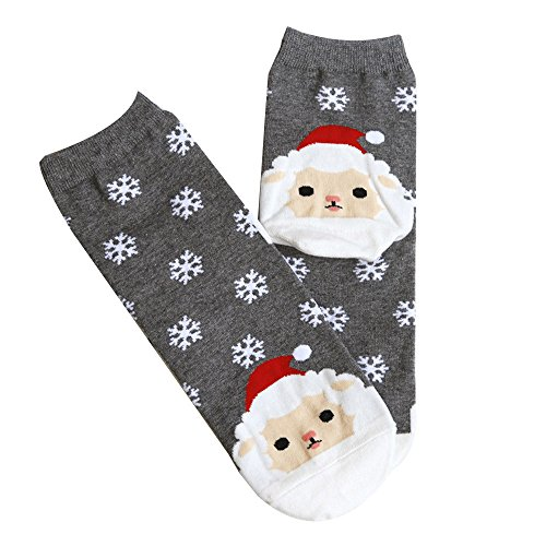 OverDose Damen Frohe Weihnachten Frauen Mädchen Casual Socken Manschetten Nette Unisex Socken Party Home Täglich Cosplay Geschenk Trekkingsocke