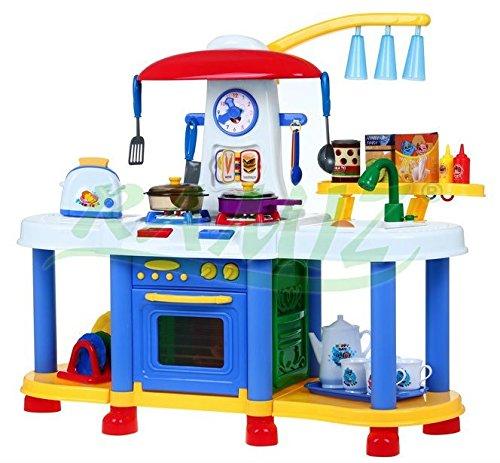 Groß Interaktiv Spielküche Kinderküche Wasser Licht Und Soundeffekte - Blau