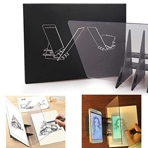 Tablero de dibujo óptico Tablero de trazado Lente de dibujo Asistente de dibujo Imagen Reflector Proyector Tablero de pintura Copiar tabla Proyección Tablero Linyi Plotter Ayuda de dibujo