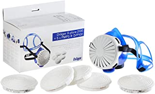 Dräger X-plore 2100 Silicone Half Mask, 5X P100 Filter, NIOSH Approved