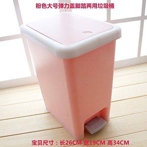 Xiuxiutian Bacs à ordures extérieurs Le Pied en Plastique Pieces Chambre à Coucher Salon Cuisine poubelles, Sect. B Bureau 26 * 19 * 34cm