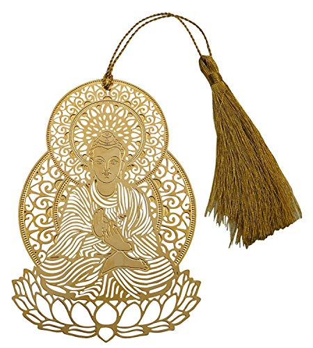 Guruji Divinity Metal Bookmark with Tassel (Lord Buddha)