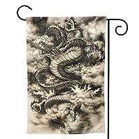 アジアンドラゴン のぼり旗 ガーデンフラッグ 両面 防風 サイン 休日を祝う 美しい 庭の装飾 アンティークの冬 ガーデンバナー ファッション 屋外装飾 贈り物