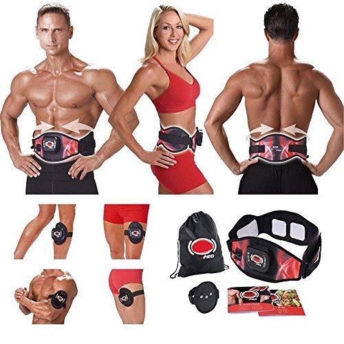 mentalshopwb Fascia ELETTROSTIMOLATORE Cintura Dimagrante Addominali Gym from ABS A Round PRO