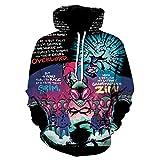 Rick Morty 3D Impreso Unisex Sudaderas Comic Print Pullover Cool Casual Manga Larga con Capucha Top para Niña Niño