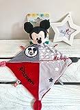 Doudou Mickey personnalisé garçon Disney prénom bébé