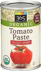 365 Everyday Value, Organic Tomato Paste, No Salt Added, 6 oz
