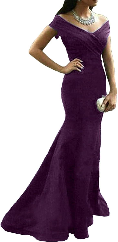 Avril Dress Mermaid Trumpet Portrait VNeck Evening Prom Dress Satin Sweep