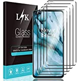 LϟK 4 Pack Protector de Pantalla Compatible con Oneplus Nord 5G (No OnePlus Nord 2 5G) - Cristal Vidrio Templado - Dureza 9H Funda Compatible Sin Burbujas Kit Fácil de Instalar