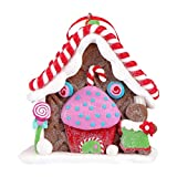 PRETYZOOM Christmas Gingerbread House Ceramic Village Candy House Clay Dough Gingerbread House Christmas Tabletop Decor