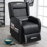 Lemberi Gaming Recliner Chair Racing Style Morden Recliner Seating Sofa Ergonomic Single Lounge Sofa PU Leather Sofa Home Theater Seating for Living Room & Home