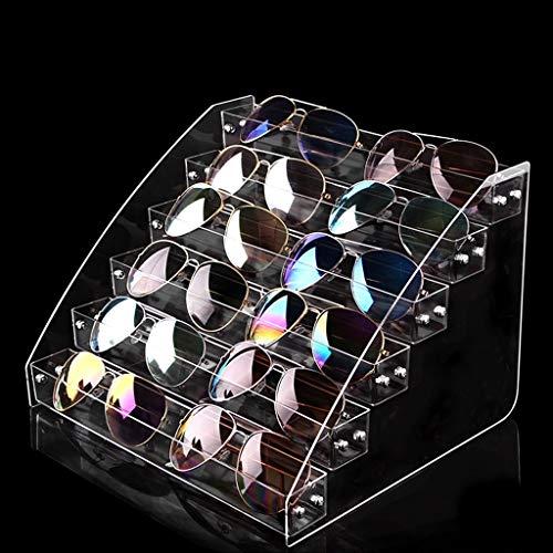 Expositor de Gafas Caja de almacenamiento de las gafas gafas gafas de sol soporte de exhibición multifuncionales Display Ventana stand de joyería soporte de exhibición Organizador de Gafas