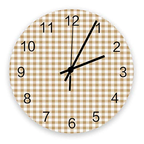 Franklin Buffalo - Reloj de pared silencioso con diseño de cuadros (funciona con pilas, 25,4 cm)