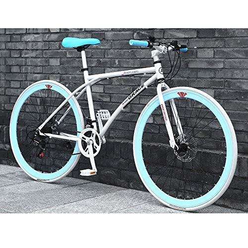 Bicicletas 26 pulgadas, llantas de Estudiante Adulto Aire libre deporte del ciclismo de carretera Bicicletas de montaña Bicicletas de ejercicio Rígidas bici del camino de bicicletas de acero al carbon
