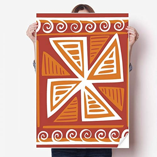DIYthinker bruin molen Mexico Totems oude beschaving Vinyl muur Sticker Poster muurschildering behang kamer Decal 80X55Cm