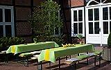 Sensalux Tischdecke, Öko-Tex 100, abwaschbar, (Farbe + Größe wählbar), weiß, 1m x 2,5m, Bierzeltgarnitur, Tischtuch, Tischwäsche, stoffähnliches Vlies, Party, Catering, Vereinsfeier, Geburtstagsfeier - 8