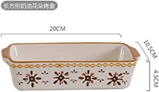 HAYQ European Style Oval Non Stick Ceramic Baking Dishes Tray Lasagna Baker Porcelain Roasting Lasagna Pan Casserole Oven ...