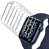 VASG [8 Stück] Schutzfolie Kompatibel mit Apple Watch Series 6/5/4/SE 44mm Klar HD Weich TPU Folie Nicht Glas Blasenfreie Bildschirmschutz