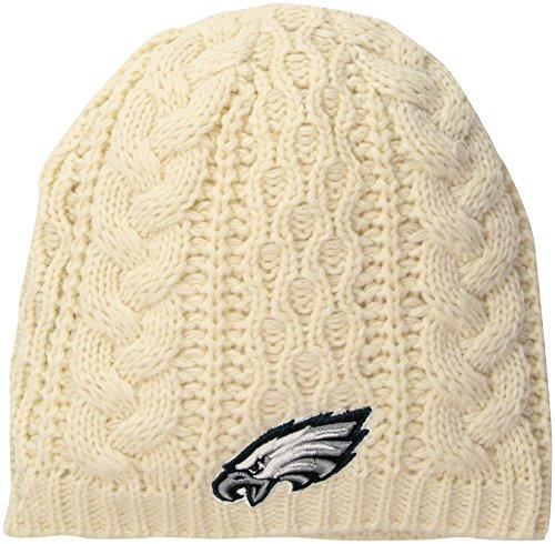 NFL Philadelphia Eagles Women's Waco OTS Beanie Knit Cap, Natural, Women's