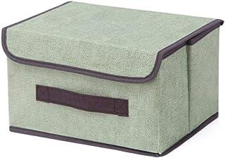 LAANCOO Boîte de Rangement avec Couvercle Panier Organisateur Grand Mêle Porte-Tissu Stockage pour Home Office Vert S pour...