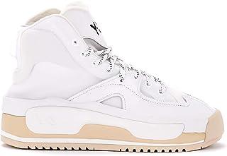 Y-3 Woman's Sneaker Hokori in Mesh E Pelle Bianca