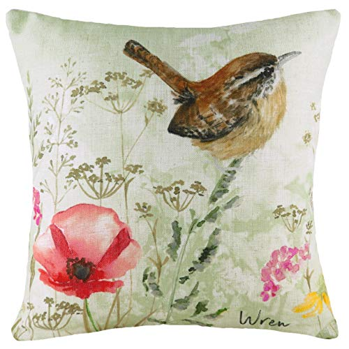 Evans Lichfield Wren Polyester Filled Cushion, Multi, 43 x 43cm