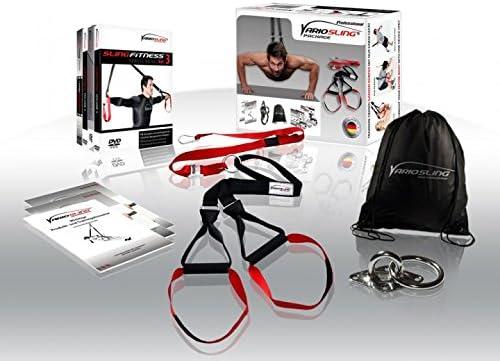 Variosling® Sistema/Kit Profesional de Entrenamiento en Suspensión/Sling-Trainer | Ancla de la Puerta, Póster/DVD de Ejercicios, Bolsa de Transporte | ...