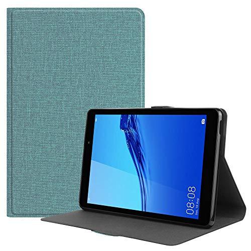 YYLKKB para 2020 Huawei Matepad T8 Caso de 8.0 Pulgadas de Lujo PU de Cuero Tableta para Huawei Mate Pad T8 Kobe2-L03 KOB2-L09-Verde_para Minapad T8