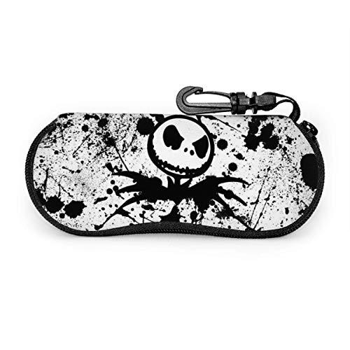 Lunettes de soleil démon blanc noir avec boucle de verrouillage sac souple étui à lunettes en tissu de plongée ultra léger