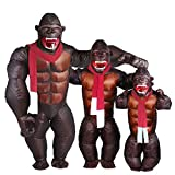Kids Gorilla Inflatable Costume - Christmas Inflatable Costume Orangutan Gibbon Chimp Monkey Fancy Dress (Kid Size) Brown