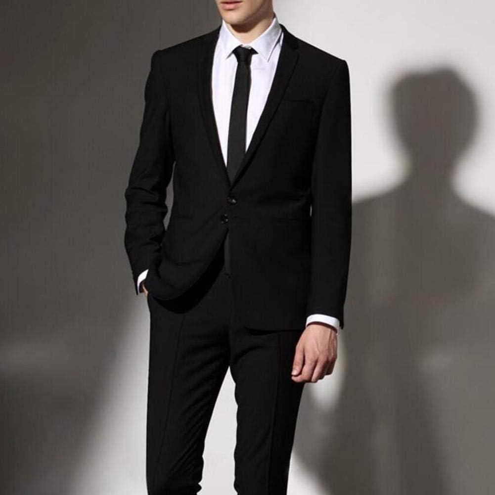 U/C Mens Boys Skinny Adjustable Zipper Clip on Tie Wedding Doorman Steward Matte Black Funeral Tie