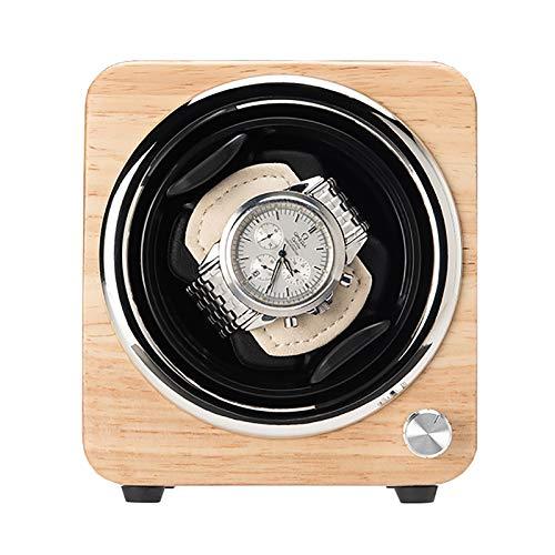 Reloj Windoer - Reloj único de madera Caja de enrollamiento Mecánico automático Shaker Caja de almacenamiento de dispositivo de reloj giratorio de doble potencia con motor tranquilo sin escobillas.