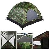 Tienda de Campaña 4 Personas Camuflaje, 3-4 Personas Tienda Camping Dome Tent Outdoor UV Protección de Camuflaje Impermeable Tienda de campaña para Acampar en Familia