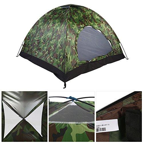 Tienda de Campaña 4 Personas Camuflaje, 3-4 Personas Tienda Camping Dome Tent Outdoor UV Protección de Camuflaje Impermeable Tienda de campaña reemplazo para Acampar en Familia