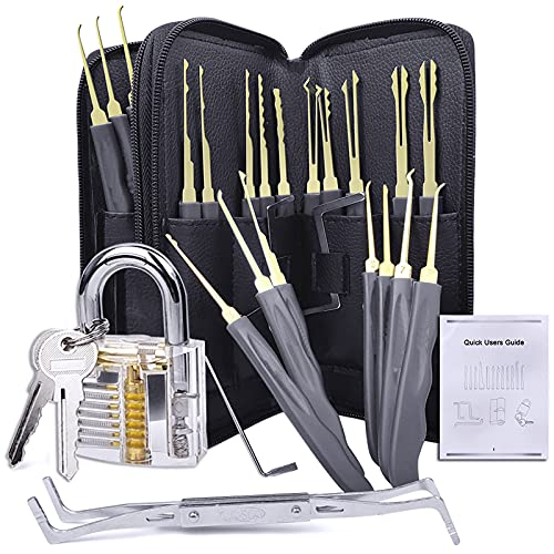Tool Lock Set with Black Simple Bag 24 Pcs Set