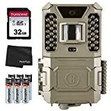 Bushnell 24MP Core Prime Brown Low Glow Trail Camera 119932CB, with 6 AA Batteries + 32GB SD Card and Lens Cleaning Cloth