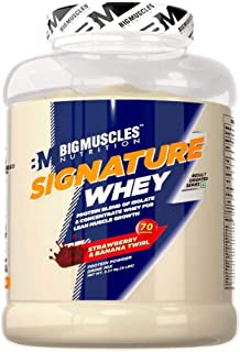 Bigmuscles Nutrition Signature Whey Protein 5lbs (Strawberry Banana Twirl)