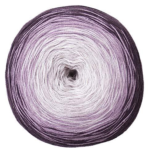 Woolly Hugs Farbverlaufsgarn Bobbel Cotton Violett (farbe 22), 200 g, Ca 800 m