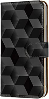 スマホケース 手帳型 カードタイプ Galaxy S6 edge SC-04G・SCV31・404SC 対応 [ブロック・ブラック] おもしろ 3Dアート キューブ SAMSUNG サムスン ギャラクシー エスシックス エッジ docomo a...