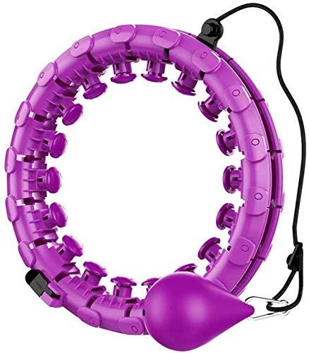 HSWYJJPFB Gadget Tecnologici Aros Smart Hula Hoop - Entrenador para Mujer, pérdida de Peso, aro Giratorio automático, Peso físico, Quema de Grasa, Aros de Hula Desmontables, Ejercicio, entrenamient