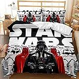 Star Wars Bedding Sets Adult Science Fiction Movie Theme Comforter Sets Queen Size 3 Pieces Duvet Cover Set, 1 Quilt Cover+2 Pillow Shams