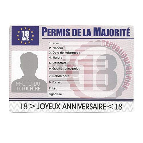 STC Permis de la Majorité Anniversaire 18 Ans - garçon