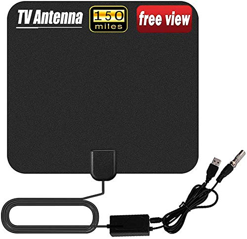Indoor TV Aerial, 150 Miles Digital HDTV Amplified Antenna Arial Freeview...