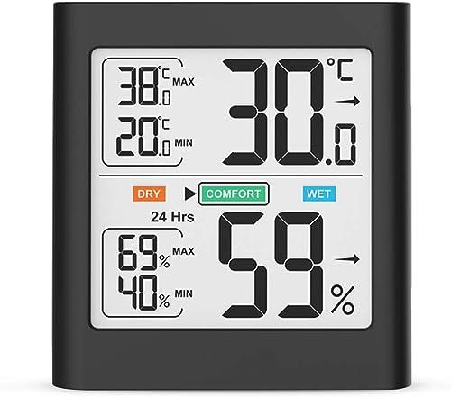 HOPLAZA Thermomètre Hygromètre Intérieur, Température Humidité Électronique Mémoire de Max/Min ℃/℉Commutable Moniteur...