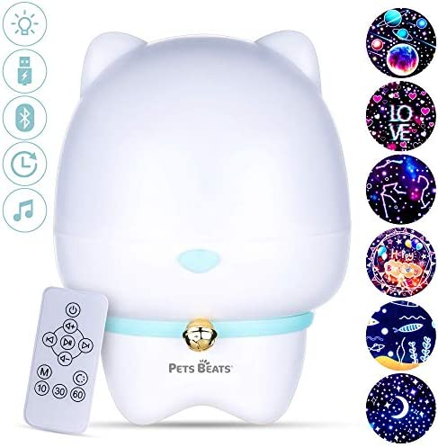 PETS BEATS Kids Night Light Projector for Bedroom with Remote Control Bluetooth Music Speaker product image