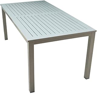 Courtyard Casual 5083 Skyline Collection Outdoor Dining Table, Silver