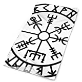 Jxrodekz Símbolo de runas vikingas Beathable Seamless Tube Neck Polaina Cráneo