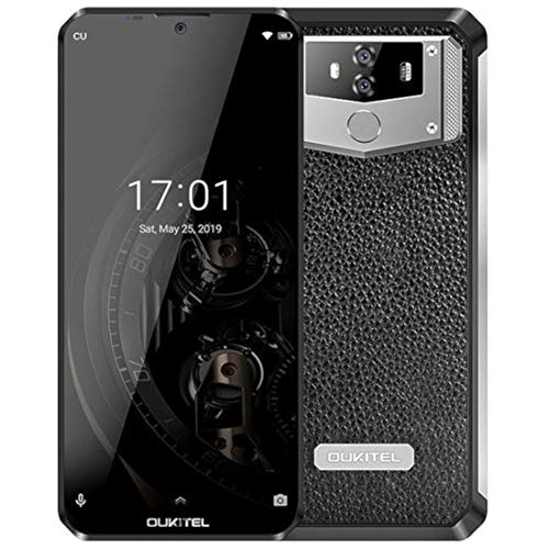 10000mAh Batería Teléfono Móvil Libre OUKITEL K12 6.3 Pulgadas FHD+ 4G Dual SIM Smartphone Android 9.0, Helio P35 Octa Core 6GB + 64GB, Cámara 16MP + 8MP 5V/6A Carga rápida GPS NFC OTG Diseño de Cuero