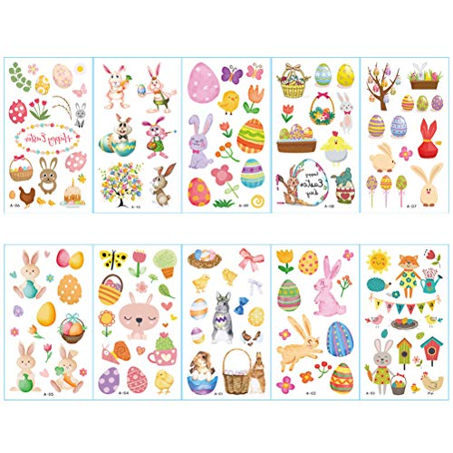 Easter Pasen tattoo stickers cosplay decoraties duurzaam duurzaam tatoeage decoratie concerten party